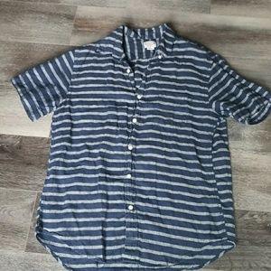 J. Crew striped linen Men's shirt